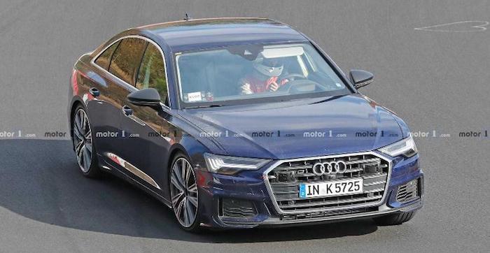 Новый седан Audi S6 засняли без камуфляжа