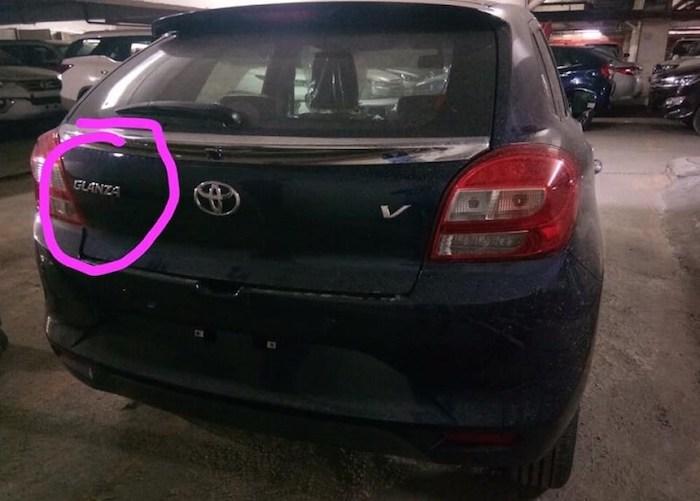 Toyota Glanza Leaked rear