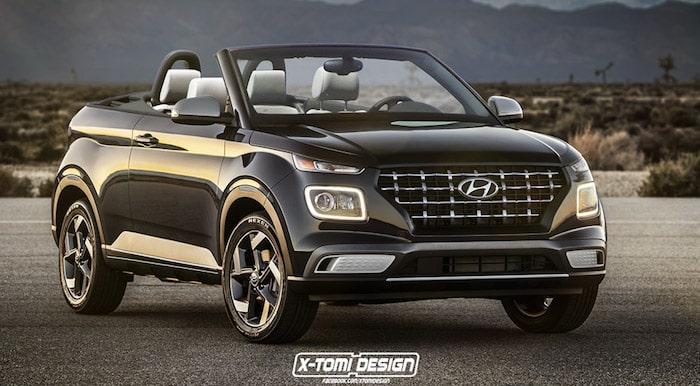 Самый дешевый кроссовер Hyundai показали в кузове кабриолет