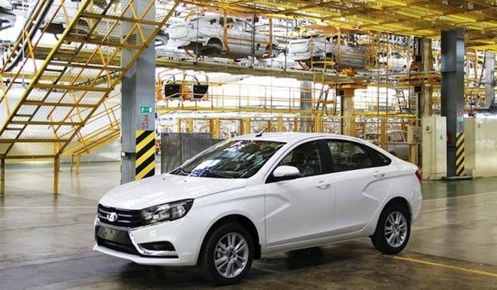 Lada Vesta production version official image