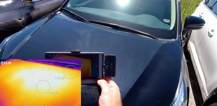 flir car color heat test5 1