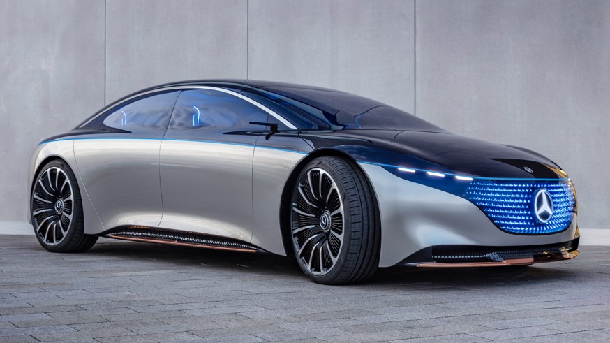 Mercedes Venz Vision EQS poluchit zapas hoda v 700 km