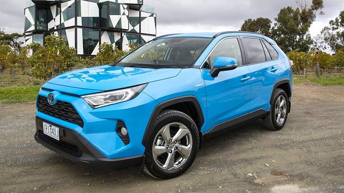 2019 Toyota RAV4 GXL hybrid suv blue 1001x565 1