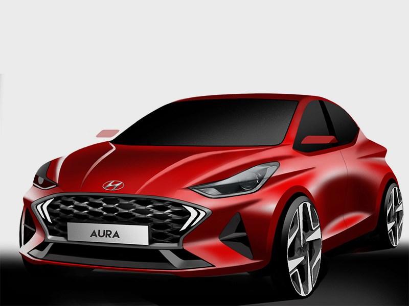 Hyundai pokazhet subkompaktnyj byudzhetnyj sedan Aura