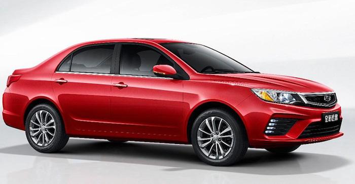 Седан Geely Vision на базе Toyota Corola E120 – обновился