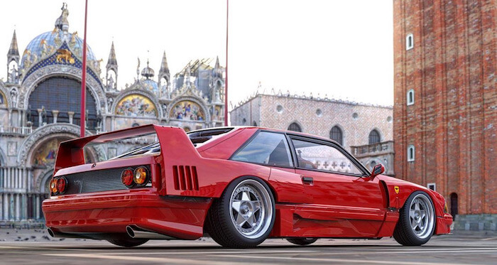«Ford не против Ferrari»: представлен уникальный гибрид Ferrari F40 и Ford