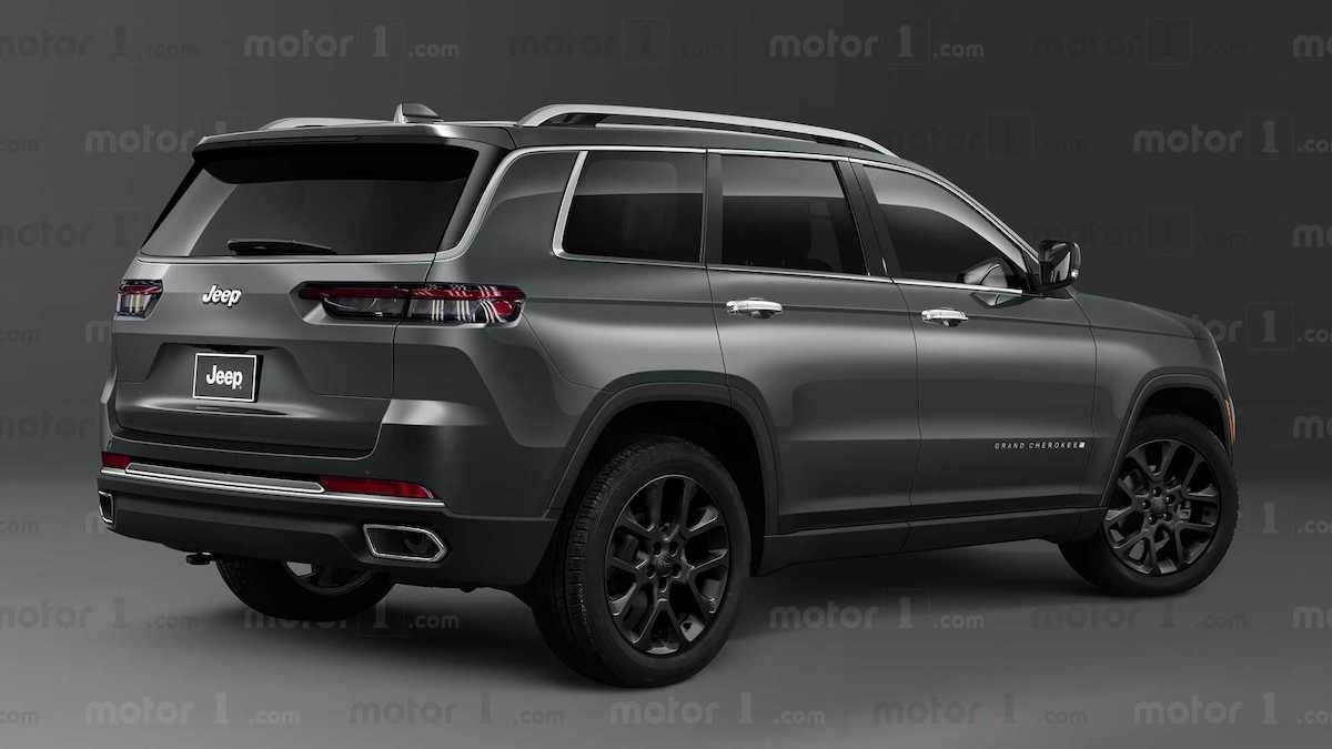 2022 jeep grand cherokee gray rendering rear