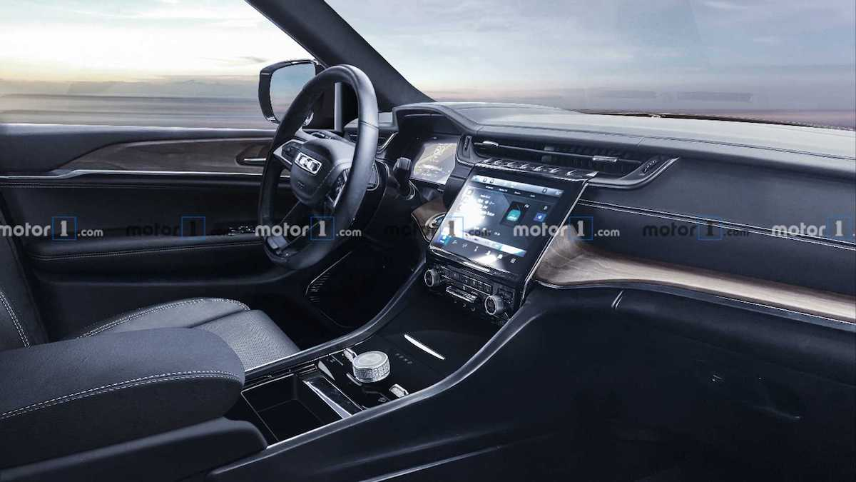 2022 jeep grand cherokee interior rendering