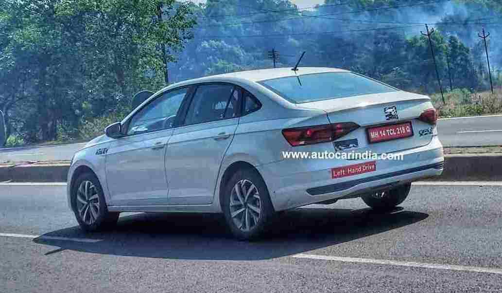VW Virtus Spied India 2