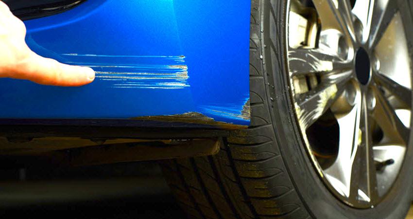car bumper scratch
