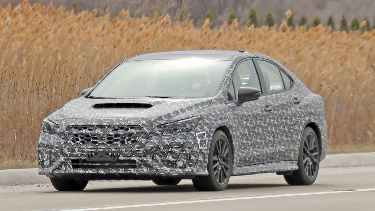 Subaru WRX 2022 spy shots 9 1