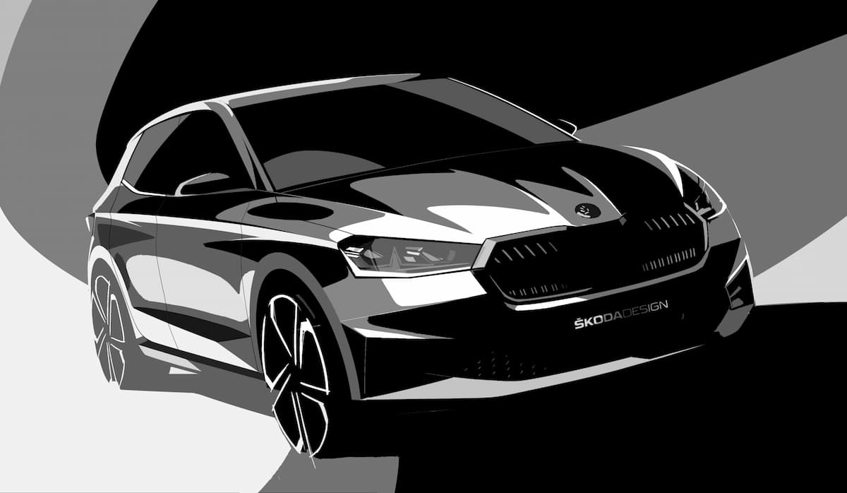 2022 skoda fabia gets official design sketches its more expensive too 1