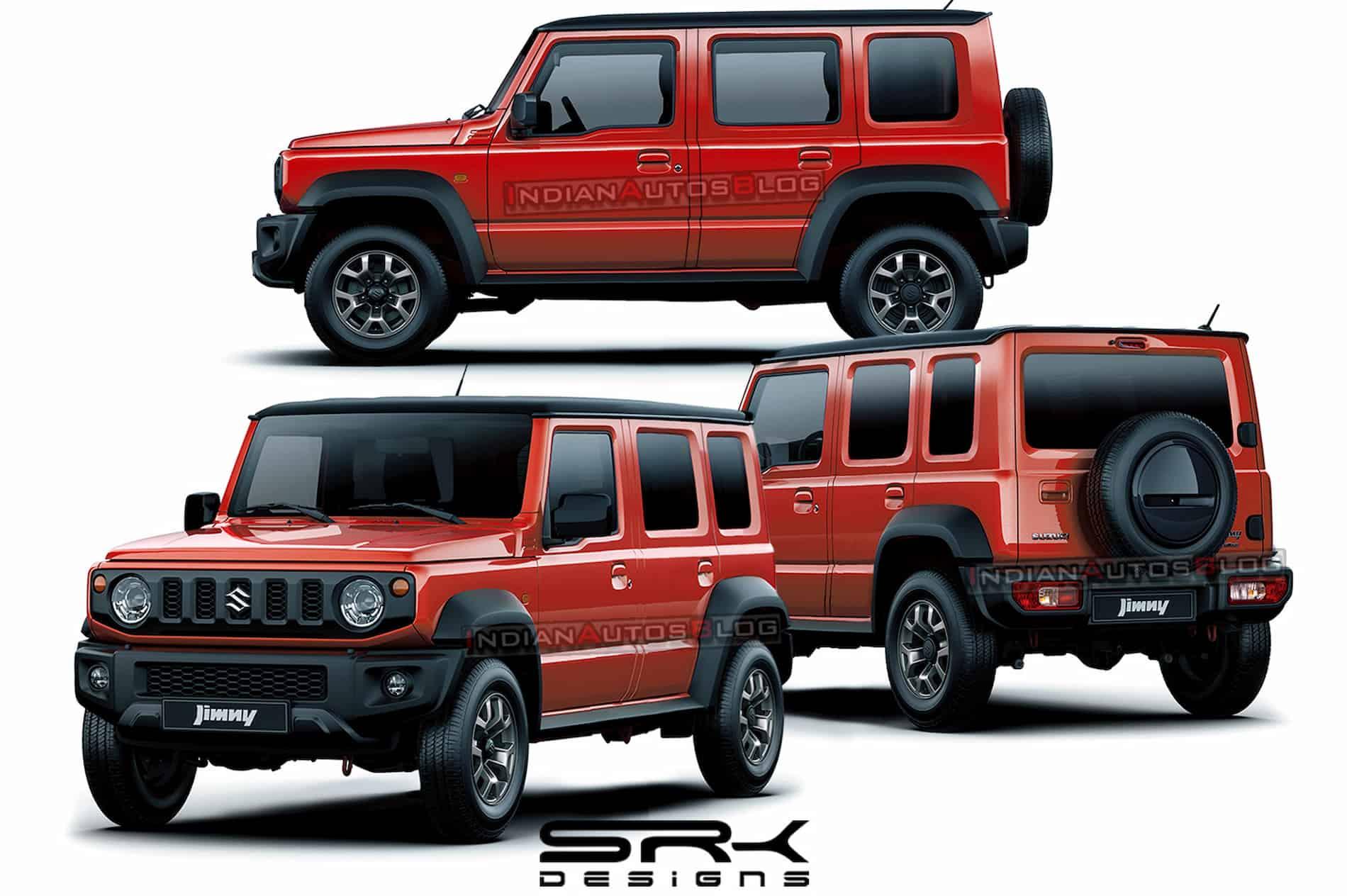 maruti suzuki jimny 5 door 2021 rendering front 3 9142