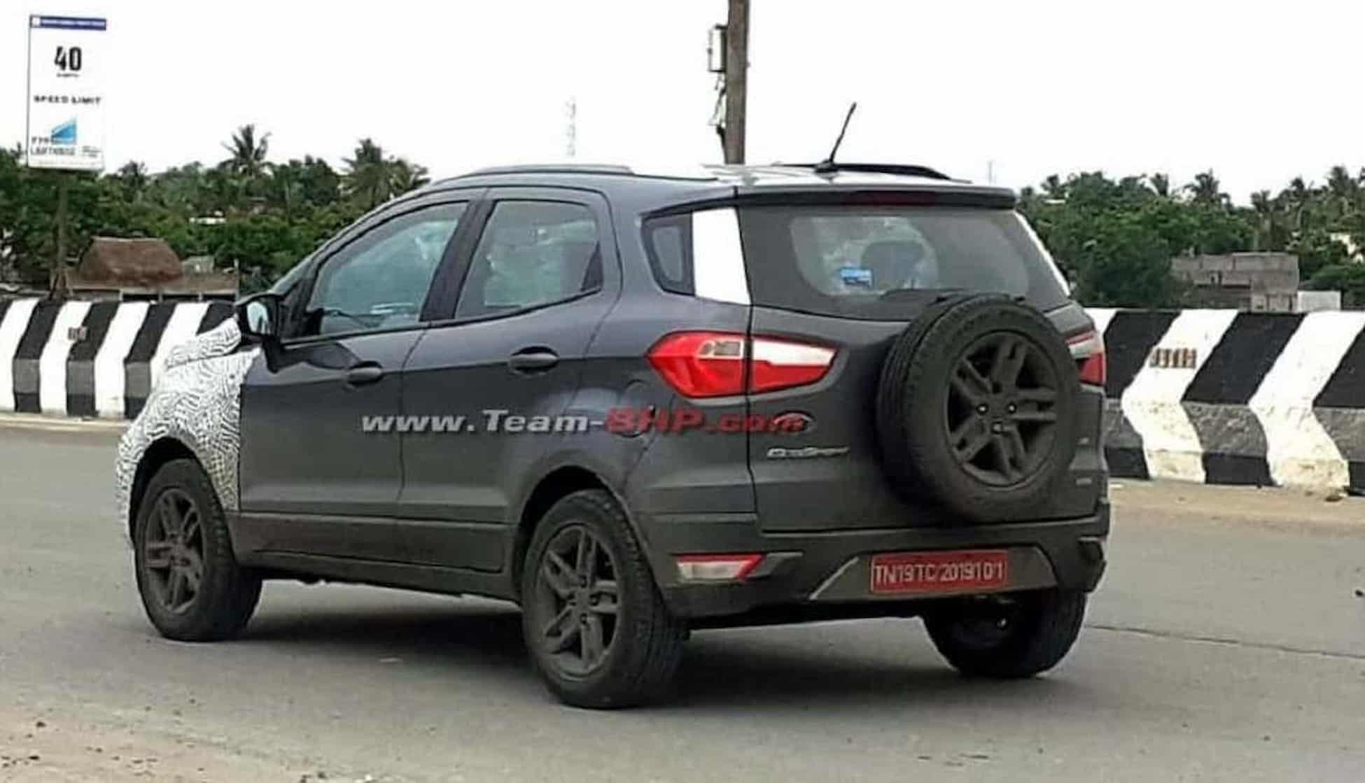 2022 Ford EcoSport rear spied