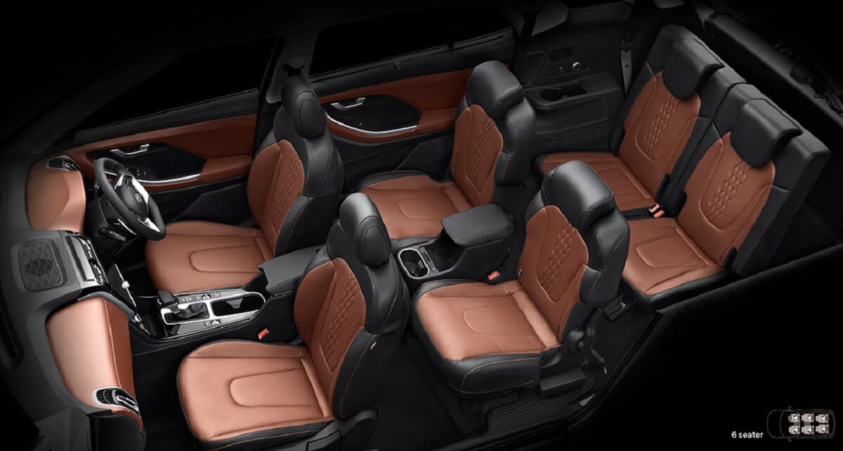 Hyundai Alcazar 6 seater interior