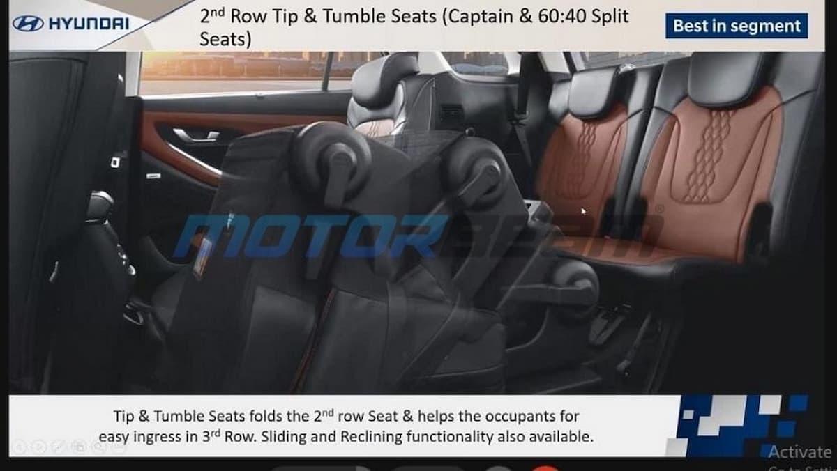 Hyundai Alcazar Brochure Seats