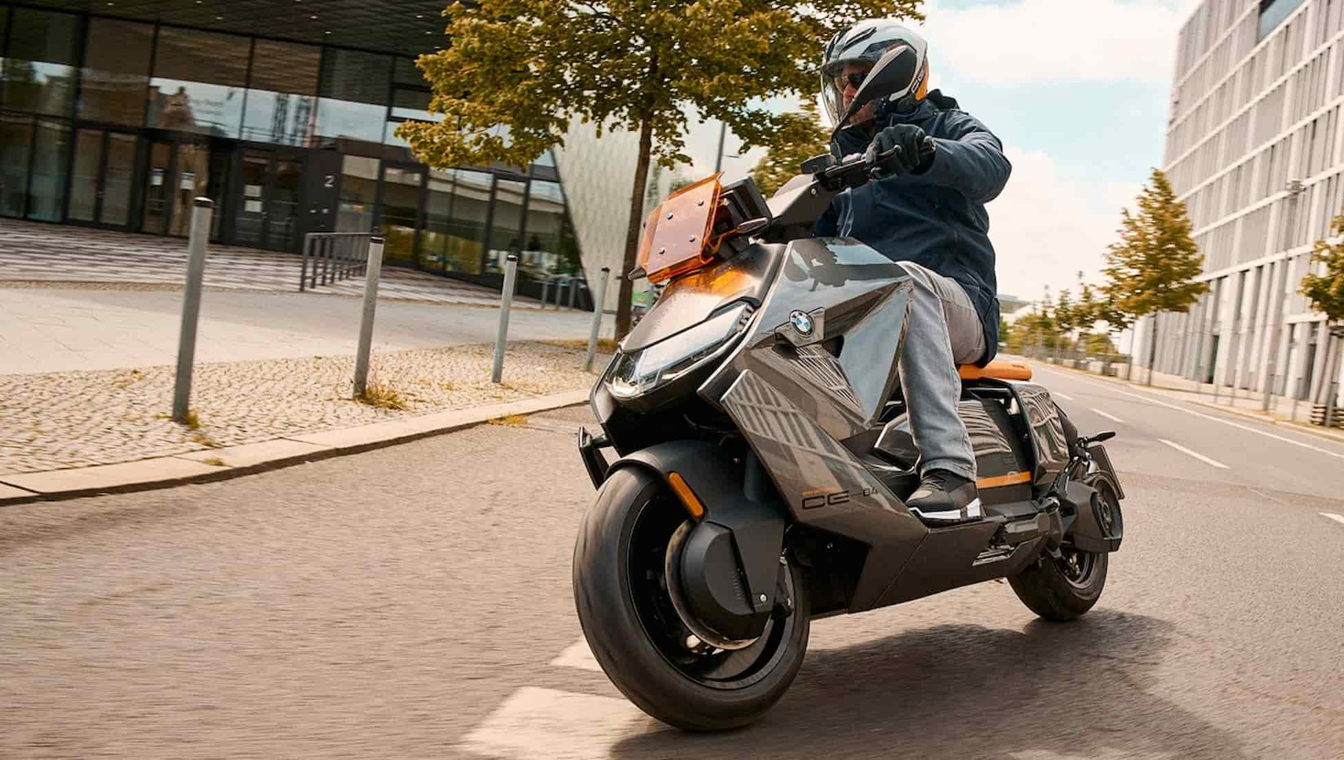 Strong and stylish BMW CE 04 E scooter with surprising