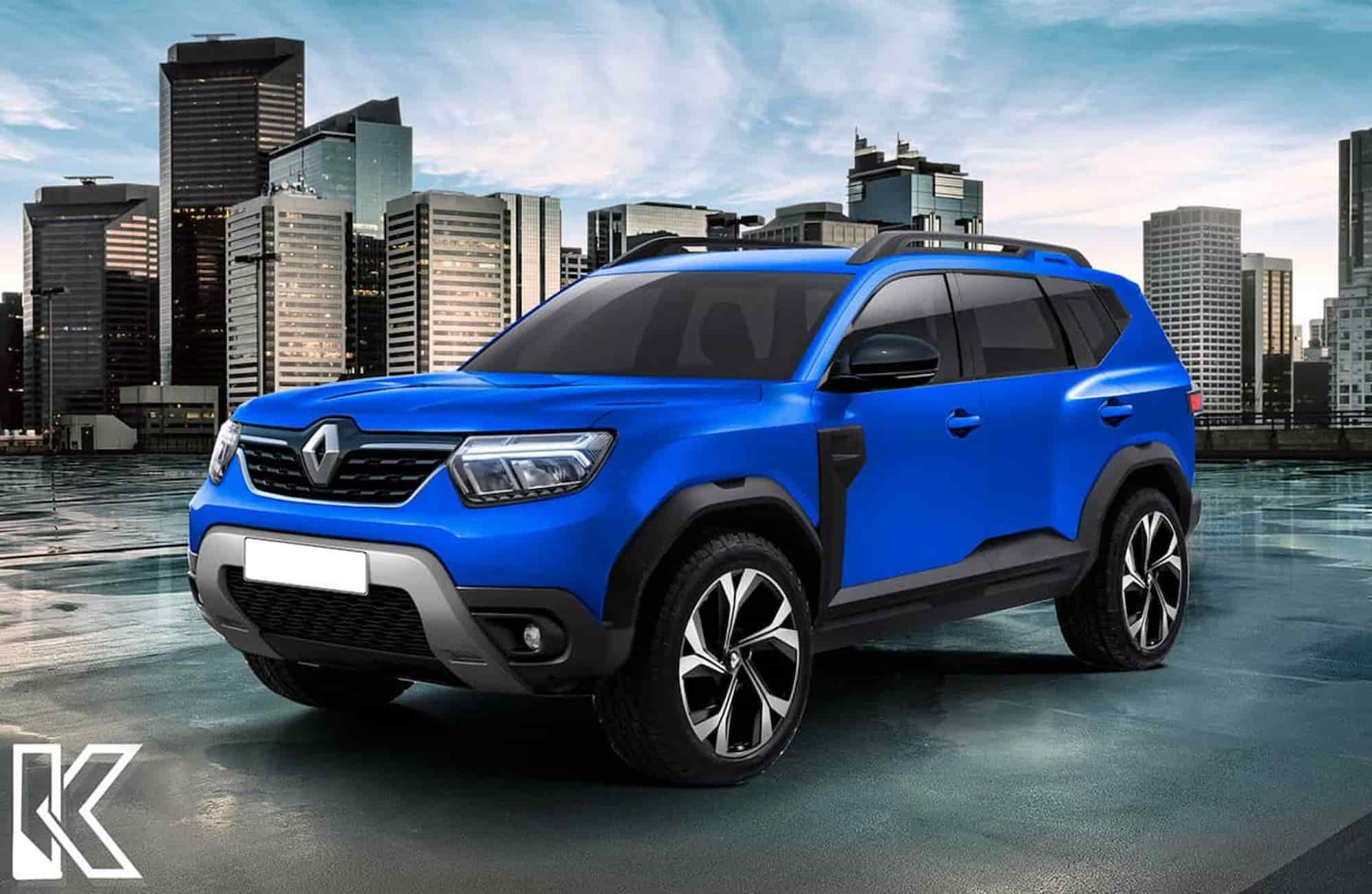 Dacia Bigster Renault Duster 7 seater rendering front
