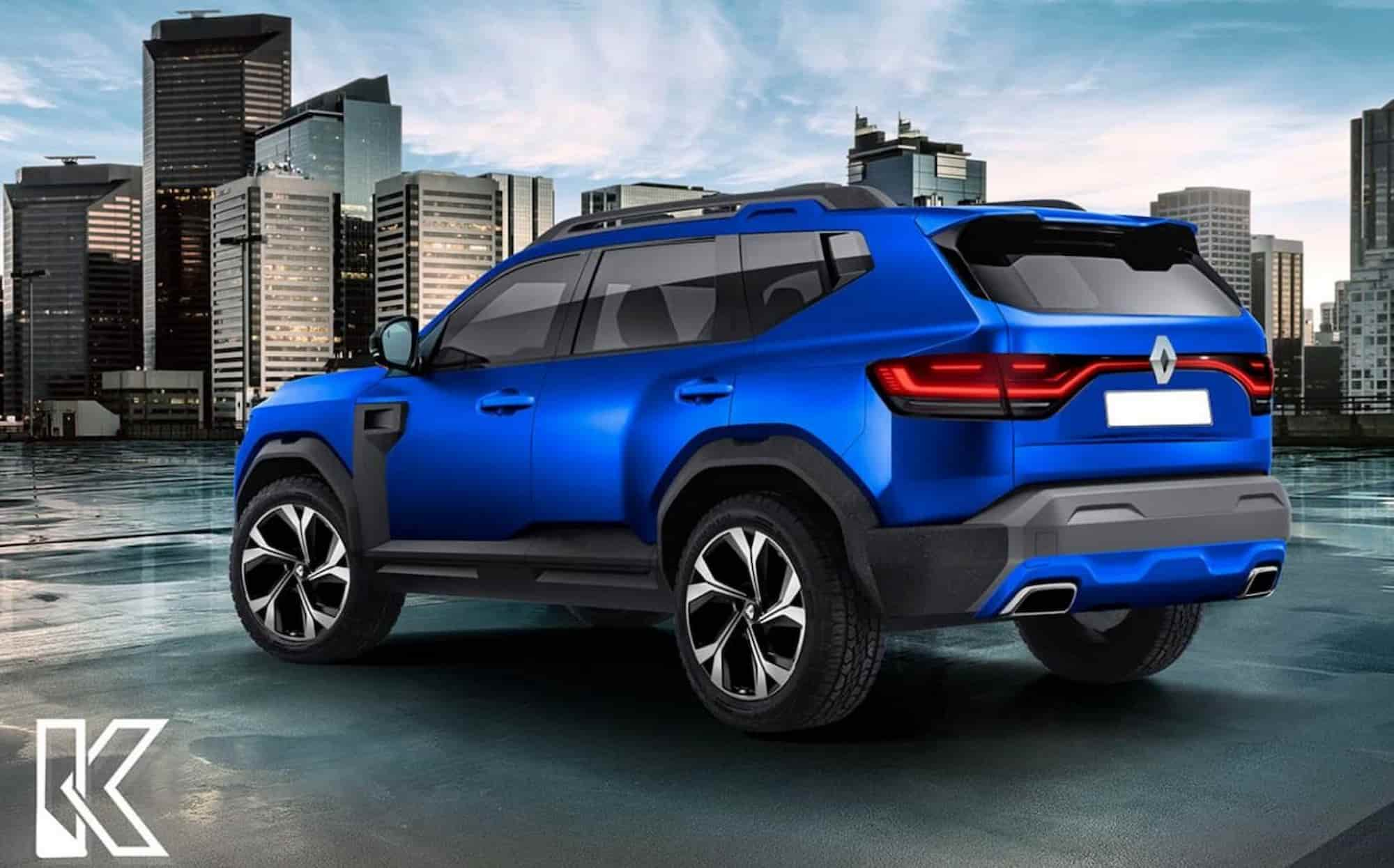 Dacia Bigster Renault Duster 7 seater rendering rear 1536x1023 1