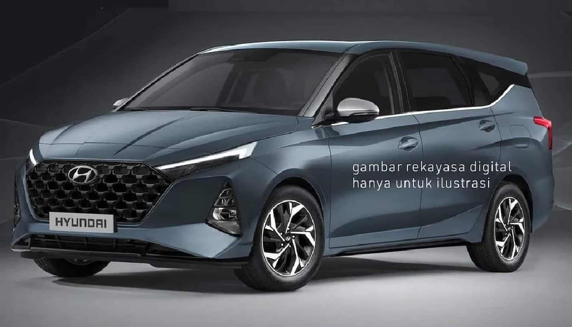 Hyundai 7 seater MPV rendered