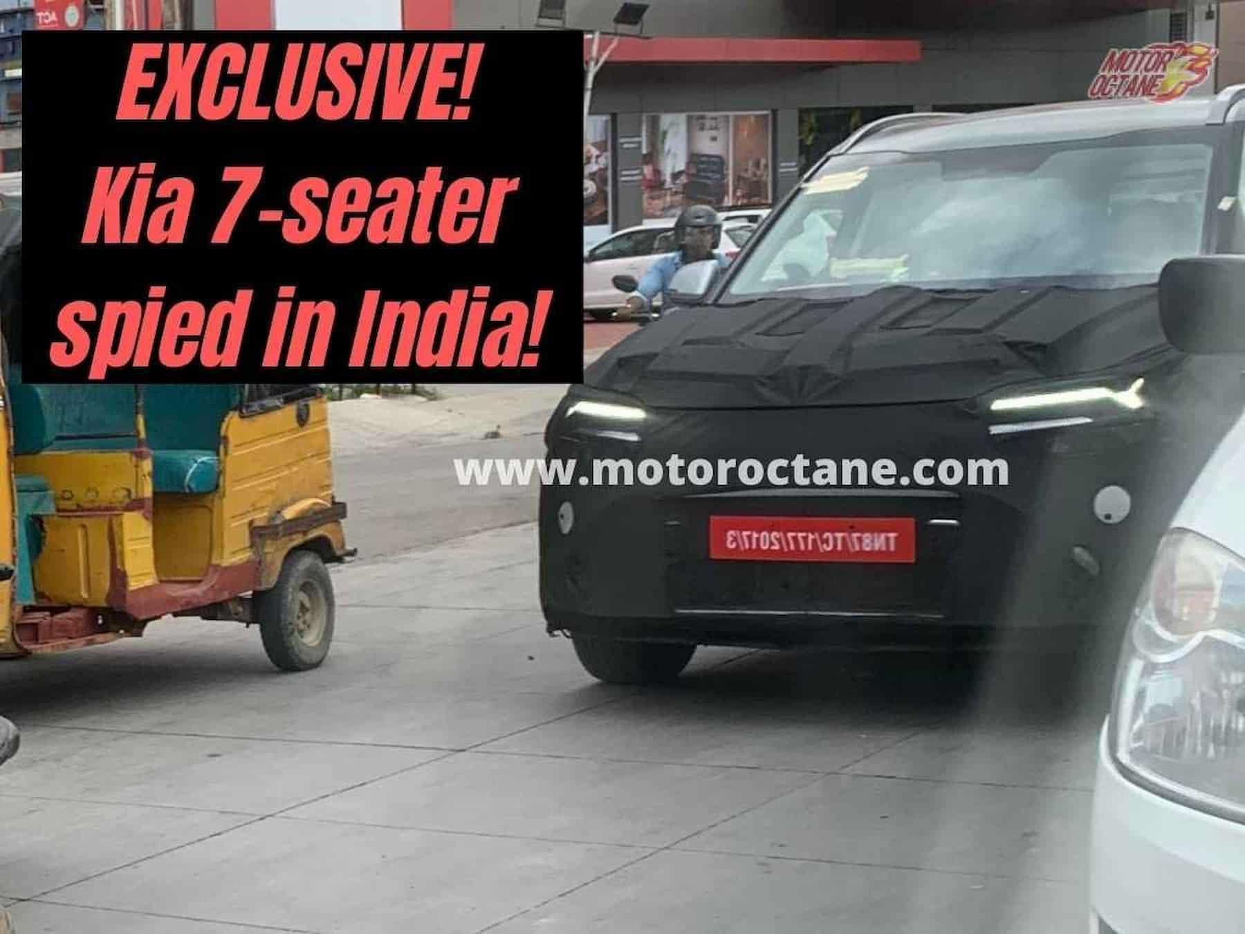 Kia Sonet 7 seater Spied India