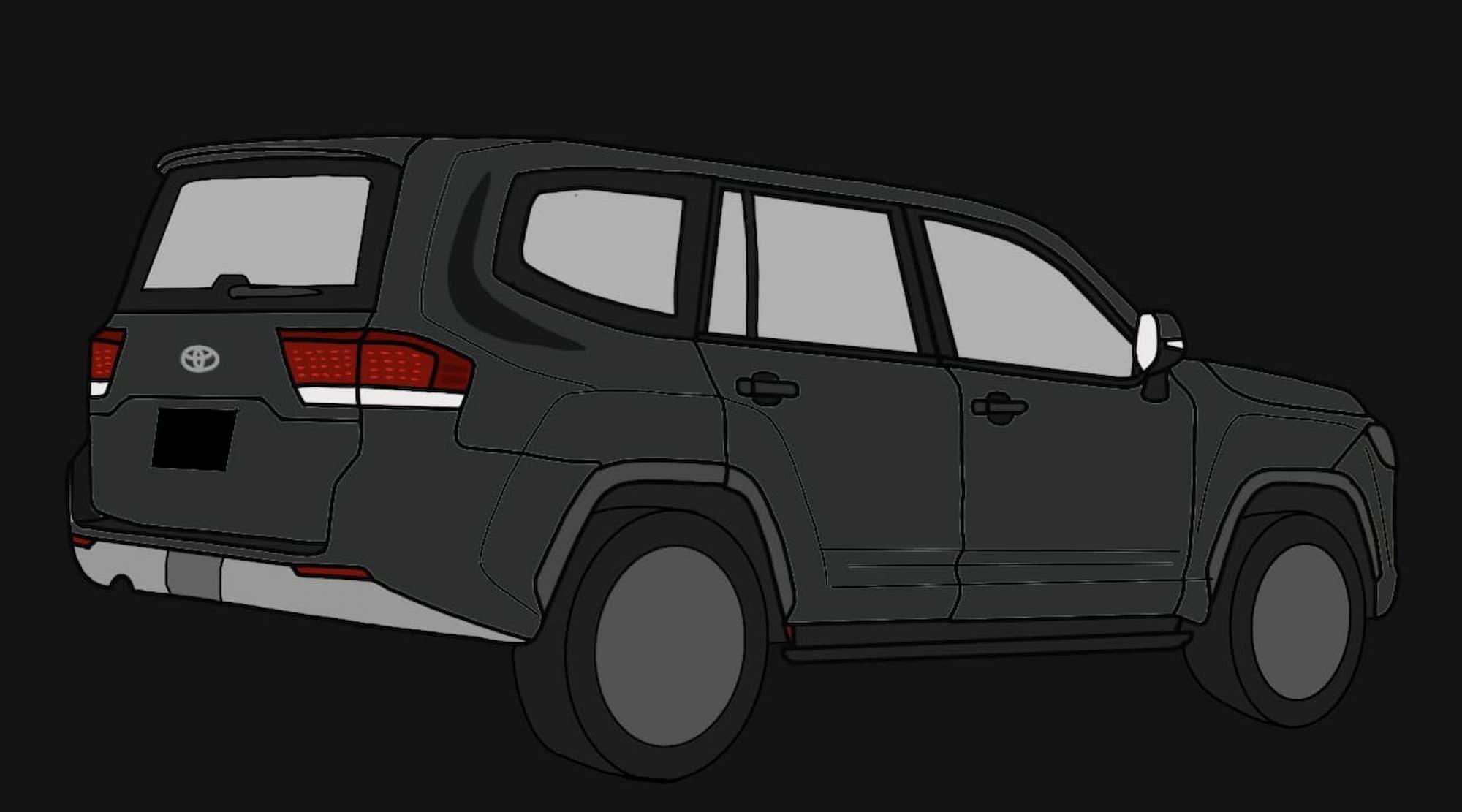 New Toyota Land Cruiser sketch