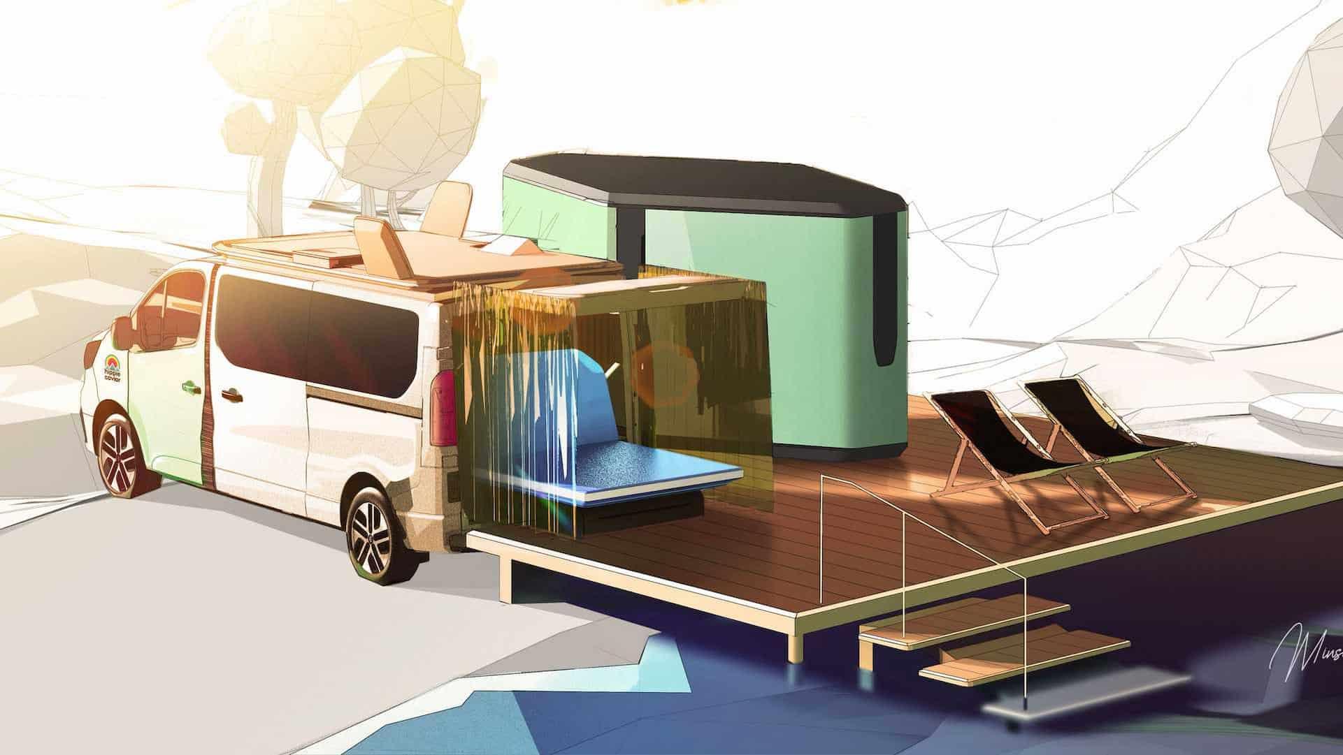 renault hippie caviar hotel show car teaser 1