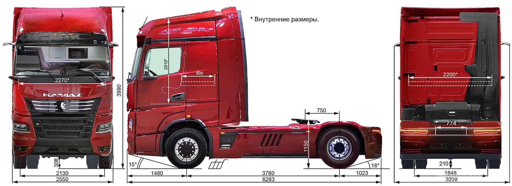 KAMAZ 54907 Continent Truckholding skhema